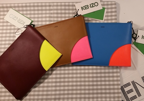 [KENZO] COLOR BLOCK CLUTCH