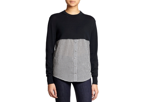[MARC BY MARC JACOBS] Gracie Crushed Gingham Combo Sweater