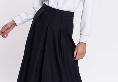 [GREY LAB]WIDE LEG PANTS WITH PLEAT DETAILS