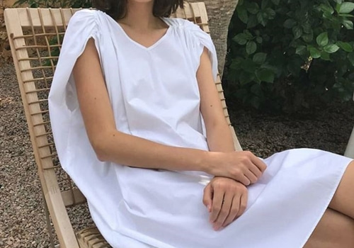 [TOTEME]Manta dress white