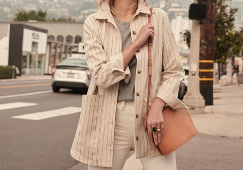 [Sezane]Will jacket_ecru stripe