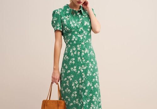 [ROUJE]PALOMA dress_GREEN
