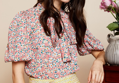 [SISTER JANE]Florid Puff Sleeve Blouse
