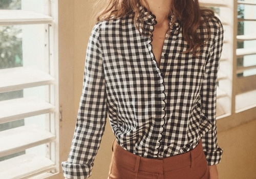 [Sezane]Louise shirt_BLACK&WHITE