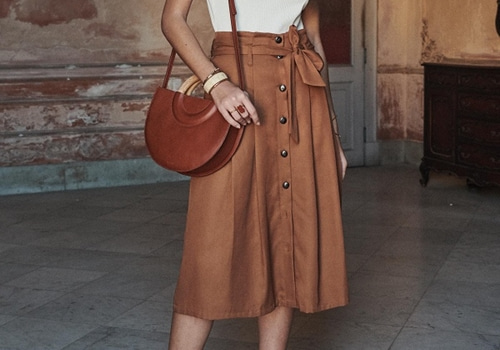 [Sezane]AMANDINE SKIRT_COFFEE