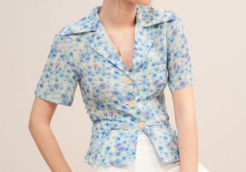 [ROUJE] JOSE BLOUSE_SKYBLUE