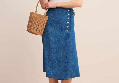 [ROUJE]GLORIA SKIRT_BLUE