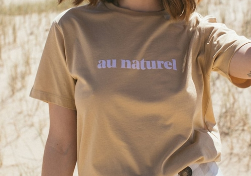[LE MOT] AU NATUREL BEIGE T-SHIRT