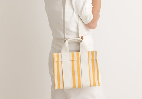 [RUE DE VERNEUIL]BABY TOTE_YELLOW STRIPED