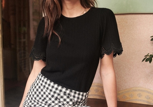 [Sezane]T-SHIRT CLEO_BLACK
