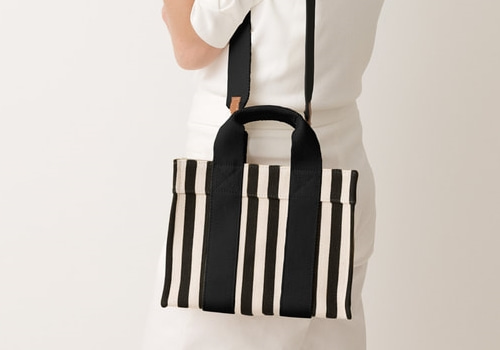 [RUE DE VERNEUIL]BABY TOTE_BLACK STRIPED