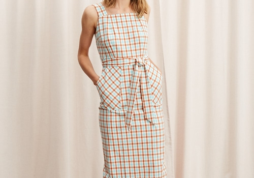 [KITRI]Sera Check Pinafore Dress