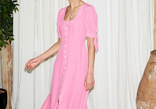 [KITRI]Lenora Pink Midi Dress