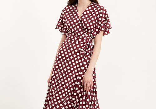[KITRI]Eliana Polka Dot Wrap Dress