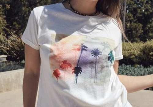 [RAGDOLL L.A]  CROPPED TEE With PALM PRINT