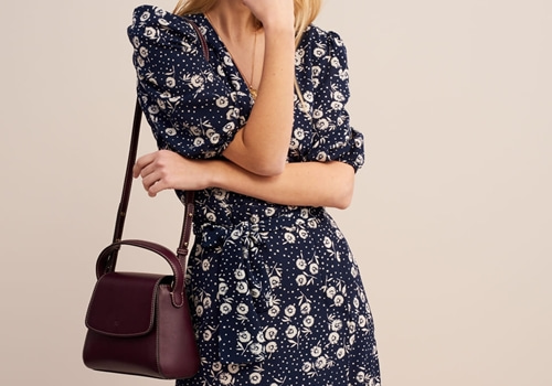 [ROUJE]ROSALIE dress_navy