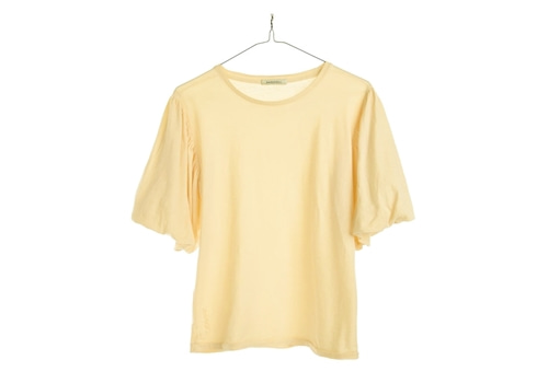 [RAGDOLL L.A]  PUFF SLEEVE TEE_light yellow