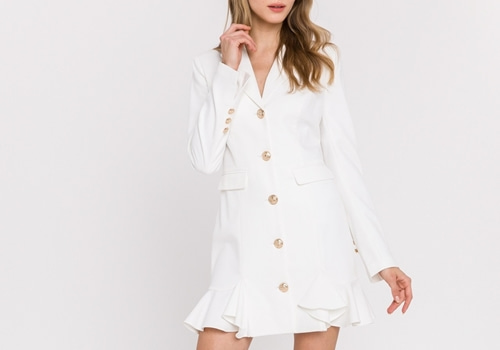 [ENDLESS ROSE] Solid Regular Jacket Dress
