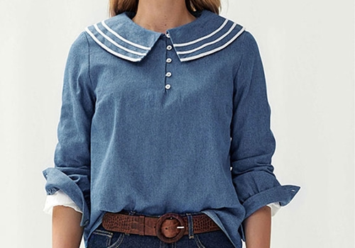 [BALZAC PARIS]STEPHANIE BLOUSE JEAN