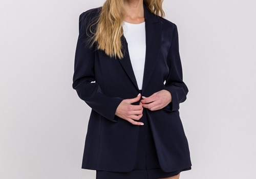 [ENDLESS ROSE]Single Breasted Blazer_NAVY