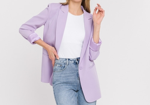 [ENDLESS ROSE]Single Breasted Blazer_LILAC