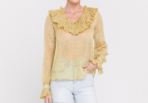 [ENDLESS ROSE]Ruffle V-neck Blouse