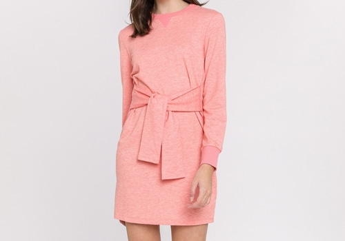 [ENGLISH FACTORY]Waist Tie Knit Dress