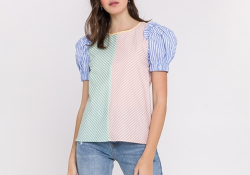 [ENGLISH FACTORY]Stripe Multi Color Top