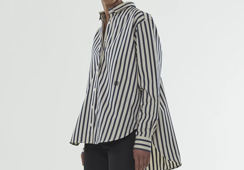 [TOTEME]Capri shirt_NAVY STRIPE