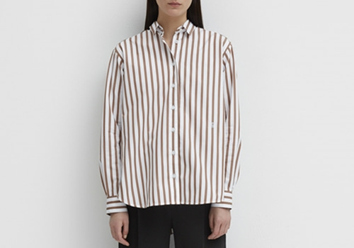 [TOTEME]Capri shirt_RUST STRIPE
