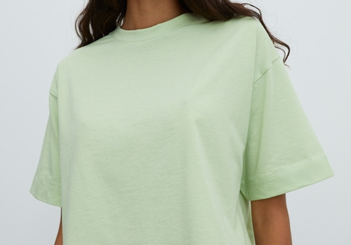 [EDITED THE LABEL]SHIRT SILA_LIGHT GREEN