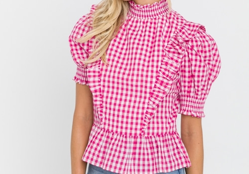 [ENGLISH FACTORY]Gingham Ruffled Top