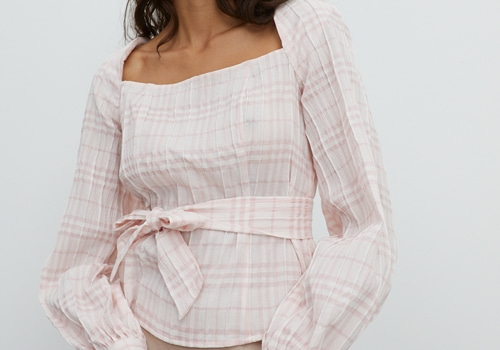 [EDITED THE LABEL]BLOUSE EDDA_PINK CHECK