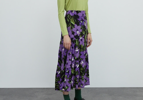 [EDITED THE LABEL]Carola skirt_big violet