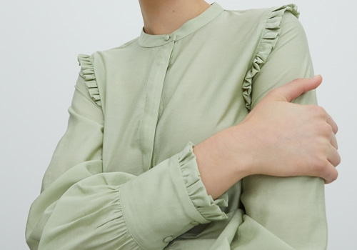 [EDITED THE LABEL]Blouse Hilda_GREEN MINT