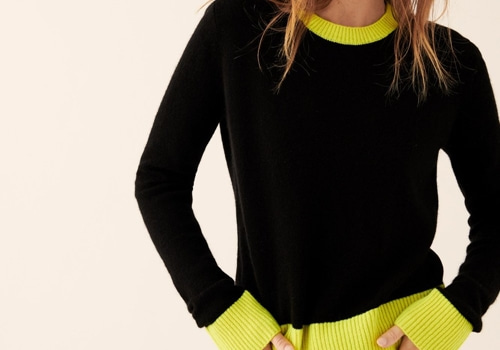 [FROM FUTURE]Lightweight Bicolored Crop Crewneck_BLACK