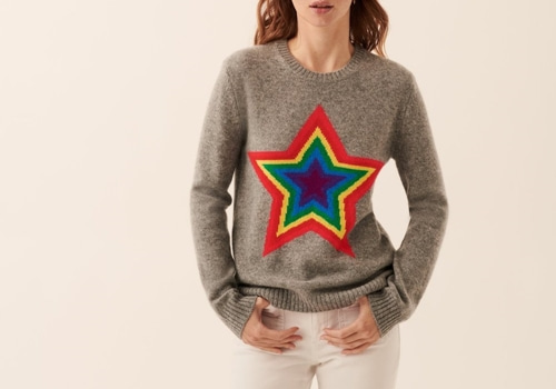 [FROM FUTURE]crewneck Multicolored Star_GREY