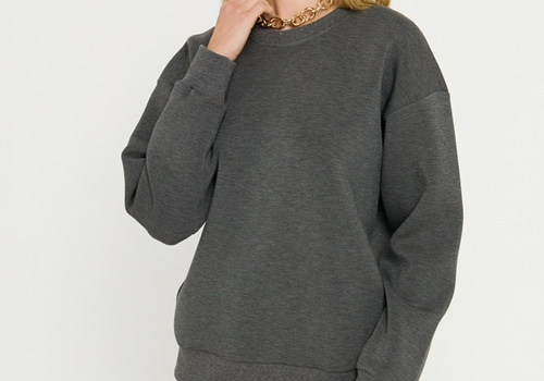 [GREY LAB]Lounge Wear Sweatshirt_CHARCOAL